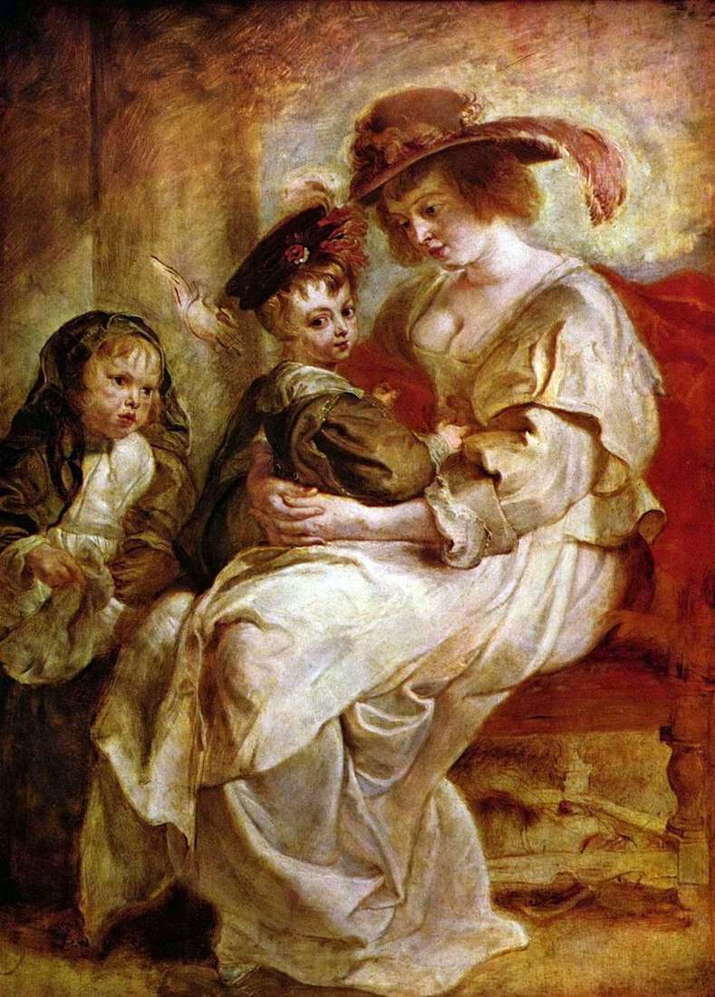 Elena Fourman z dziećmi Claire Jeanne i Francois   Peter Rubens