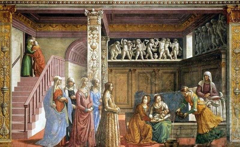Narodziny Marii   Domenico Ghirlandaio