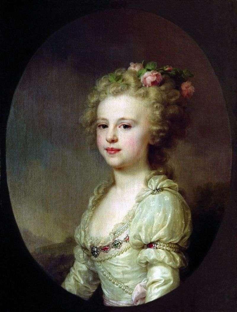 Portret wielkiej księżnej Alexandra Pavlovna jako dziecko   Johann Baptist Lampi