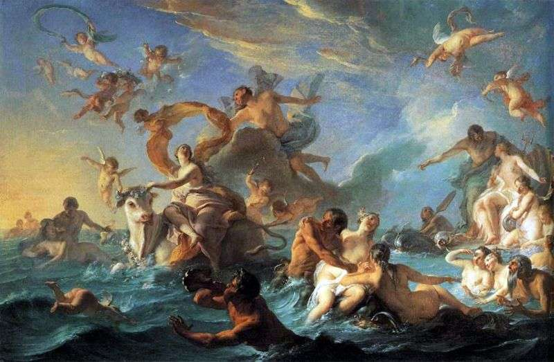 Porwanie Europy   Giovanni Battista Tiepolo