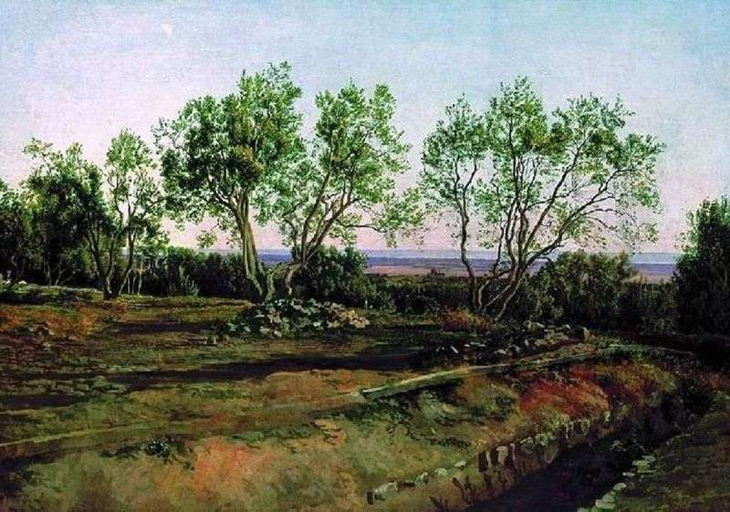 Oliwki na cmentarzu w Albano. Nowy miesiąc   Aleksander Iwanow