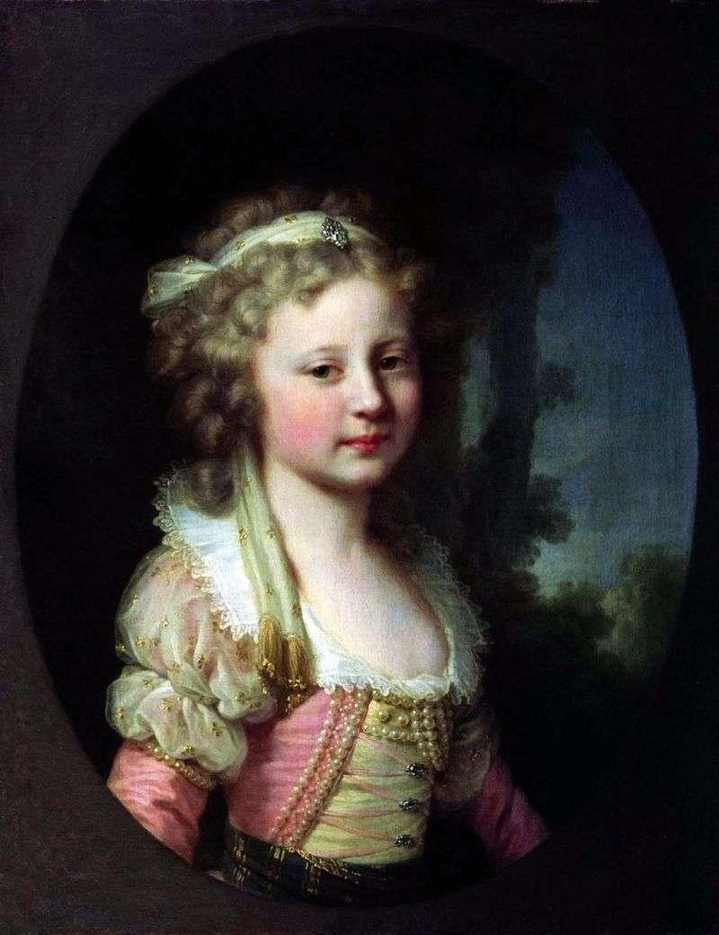 Portret wielkiej księżnej Eleny Pawłownej jako dziecka   Johann Baptist Lampi