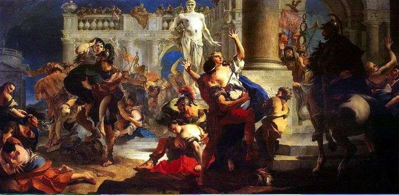 Gwałt kobiety Sabine   Giovanni Battista Tiepolo