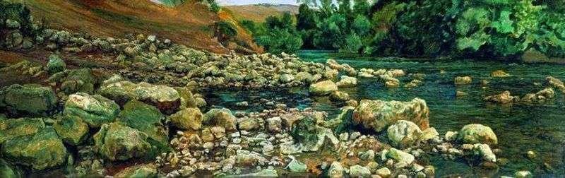 Stopa Vikovara. Kamienie nad rzeką   Aleksander Iwanow