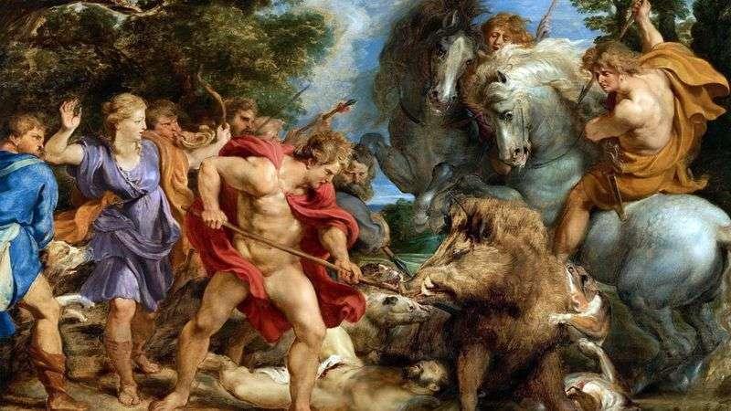 Polowanie na Kaledońskie Dzik   Peter Rubens