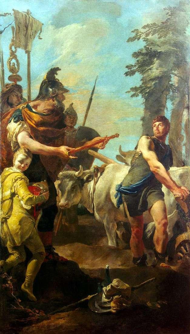Cincinnatus nawołuje do władzy dyktatora   Giovanni Battista Tiepolo