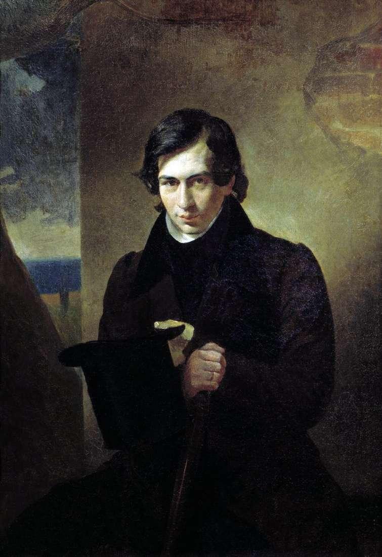 Portret N. V. Kukolnika   Karl Bryullov
