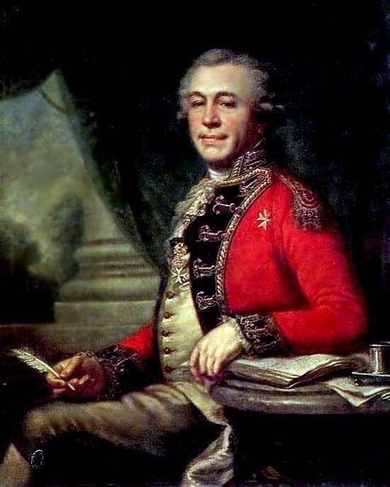 Portret I. L. Lazareva   Johann Baptist Lampi