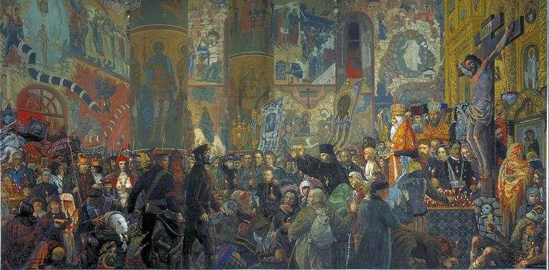 Trasa świątyni w noc Wielkanocy   Ilya Glazunov
