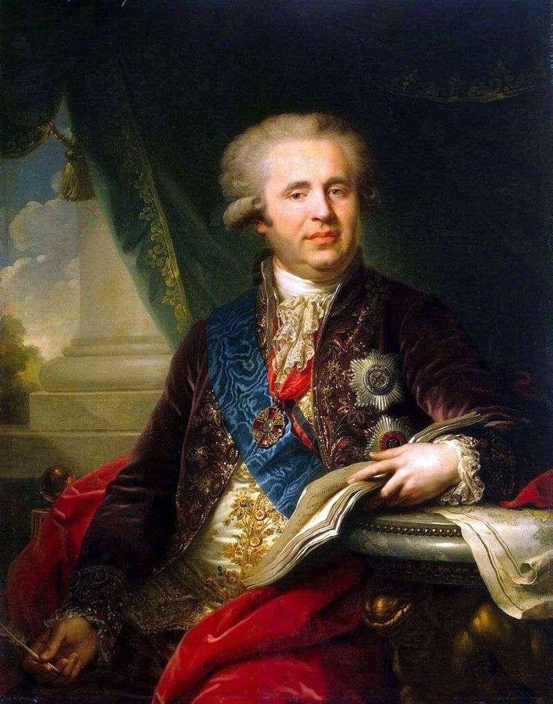 Portret księcia A. A. Bezborodko   Johann Baptist Lampi