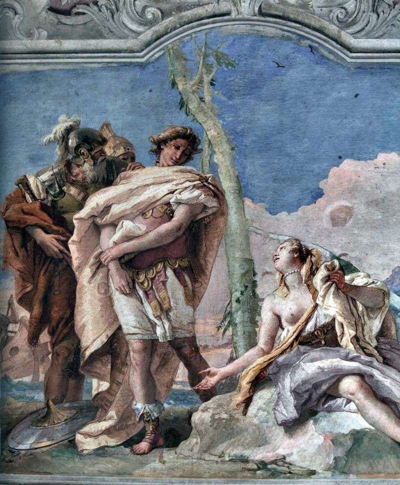 Rinaldo opuszcza Armindu   Giovanni Battista Tiepolo
