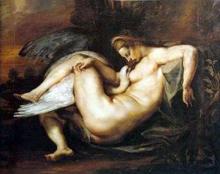 Leda i łabędź   Peter Rubens