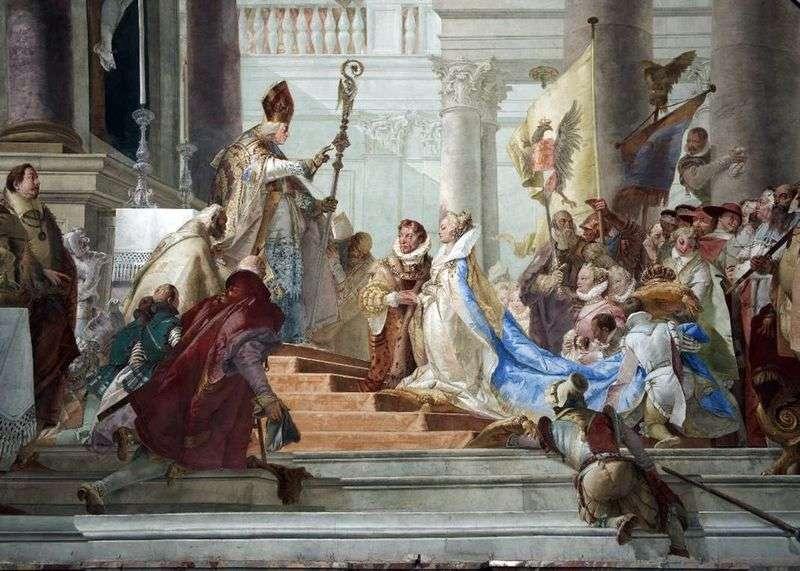 Ślub Fryderyka Barbarossy i Beatrycze z Burgundii   Giovanni Battista Tiepolo
