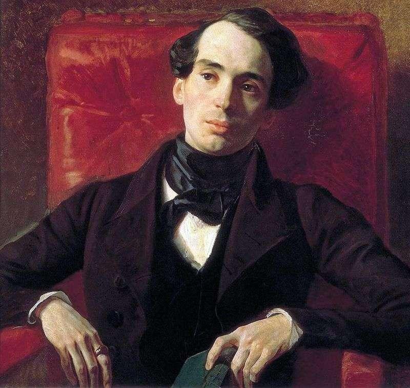 Portret pisarza A. N. Strugovshchikov   Karl Bryullov