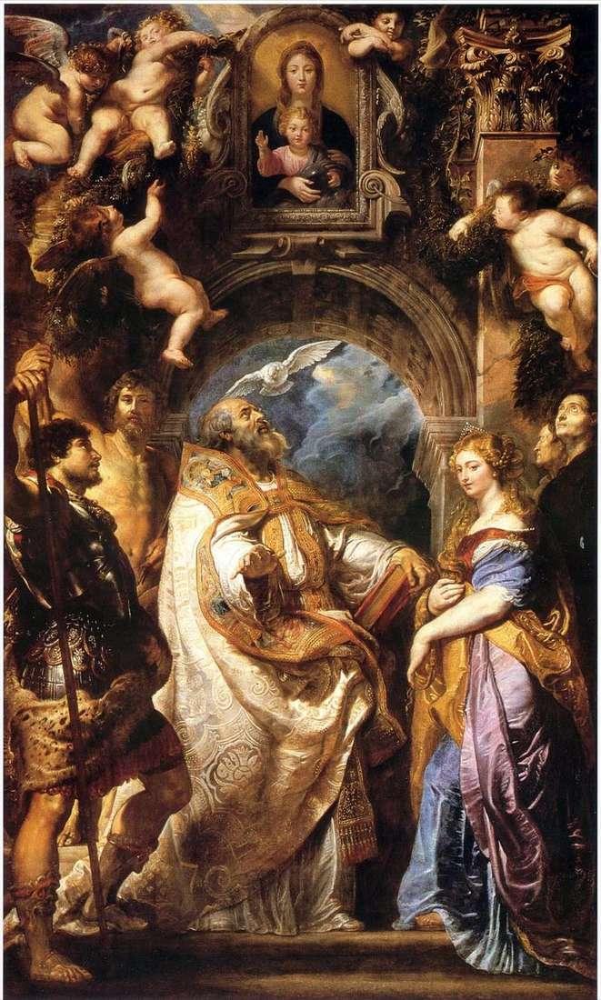 Madonna z Dzieciątkiem, św. Grzegorz Wielki i święci   Peter Rubens