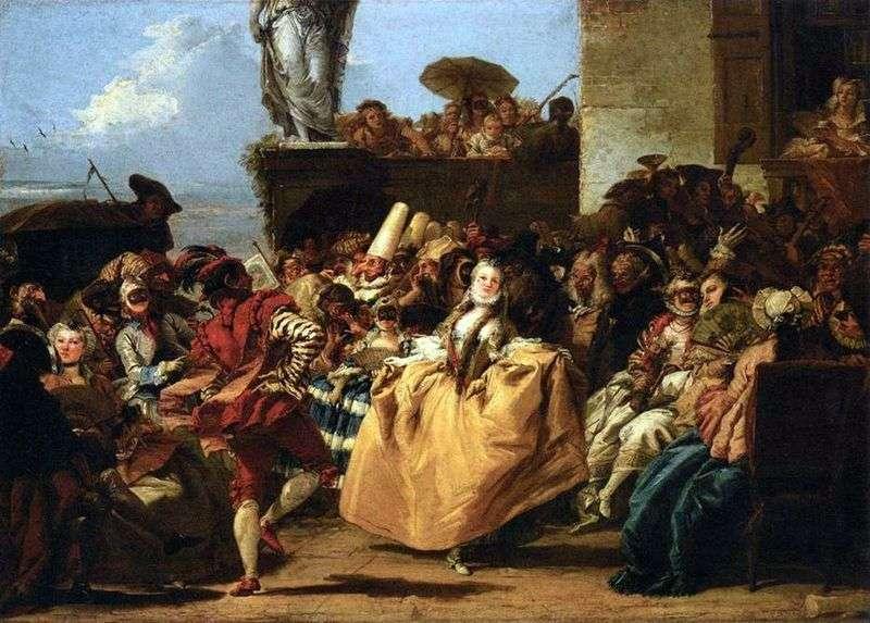 Carnival Scene, lub Menuet   Giovanni Domenico Tiepolo
