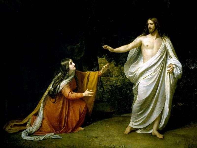 Pojawienie się Chrystusa Marii Magdaleny po zmartwychwstaniu   Aleksander Iwanow
