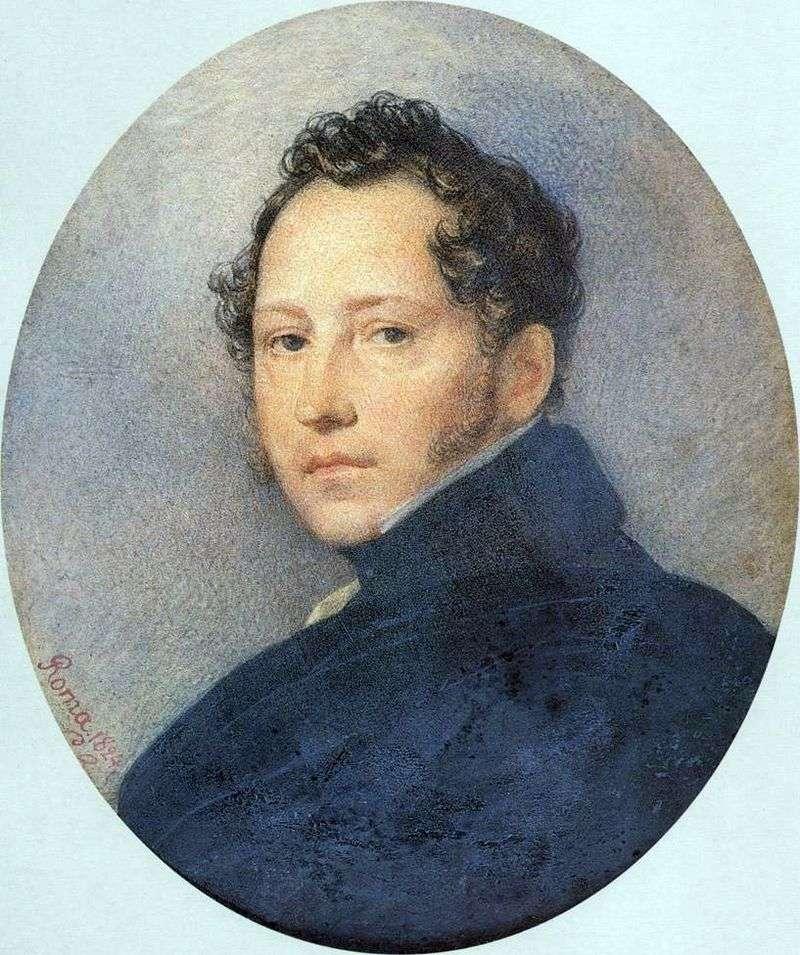 Portret S. F. Shchedrin   Karl Bryullov