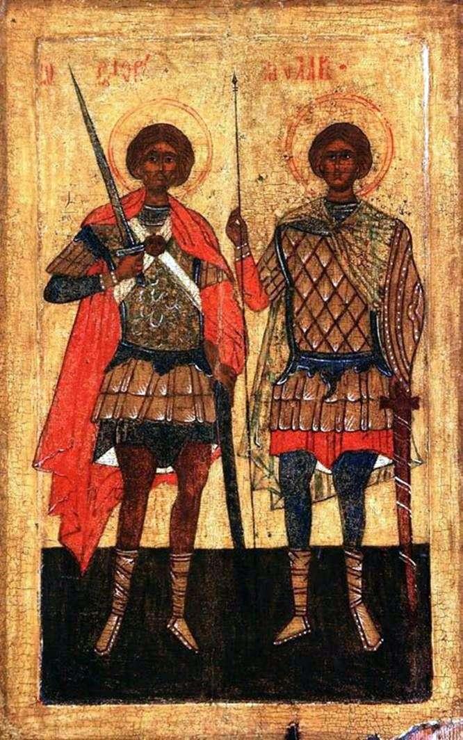 Święci Flor i Laurus jako wojownicy