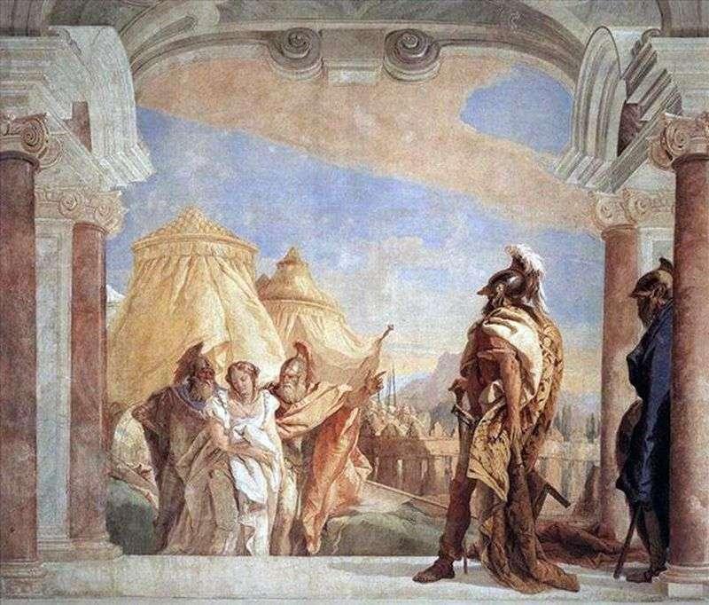 Evribat i Talfibi prowadzą Briseisa do Agamemnona   Giovanni Battista Tiepolo
