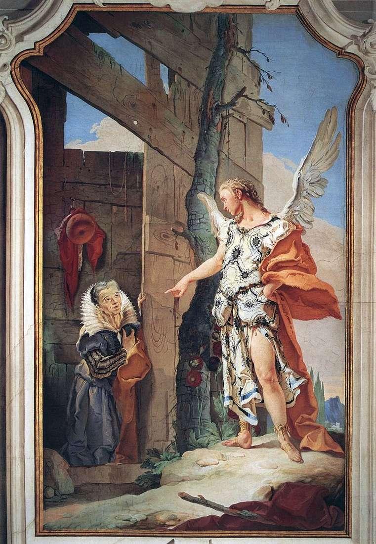 Pojawienie się anioła Sarah   Giovanni Battista Tiepolo