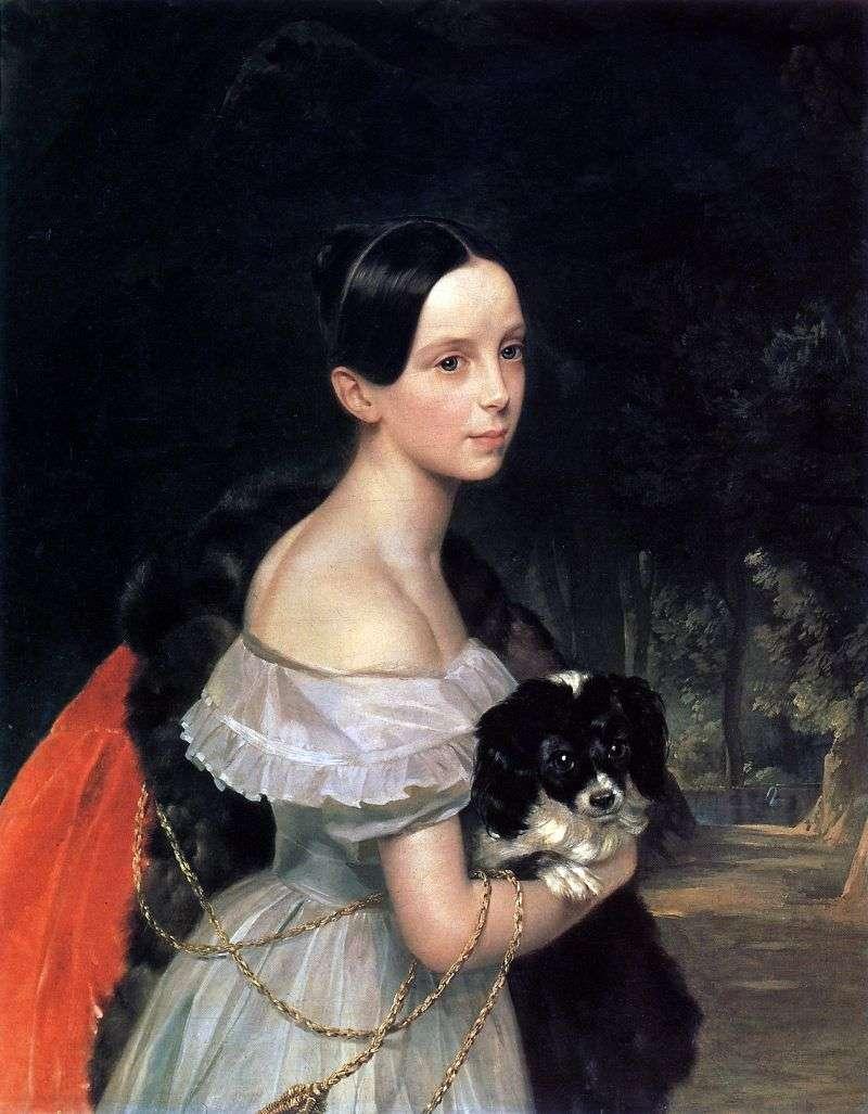 Portret W. M. Smirnova   Karl Bryullov