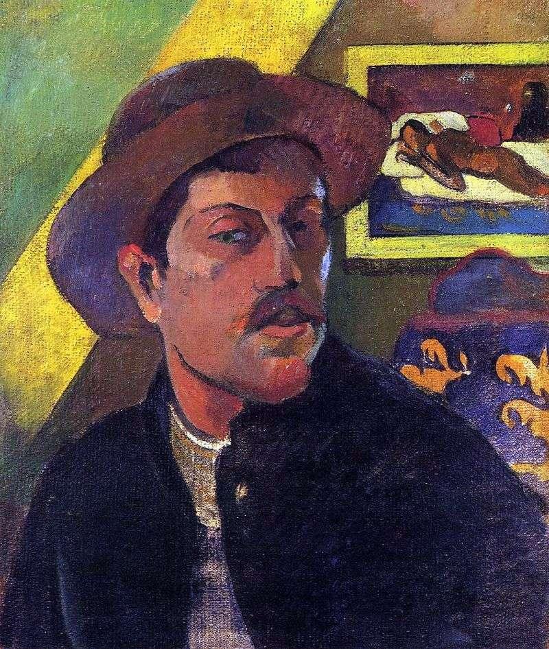 Autoportret w kapeluszu   Paul Gauguin
