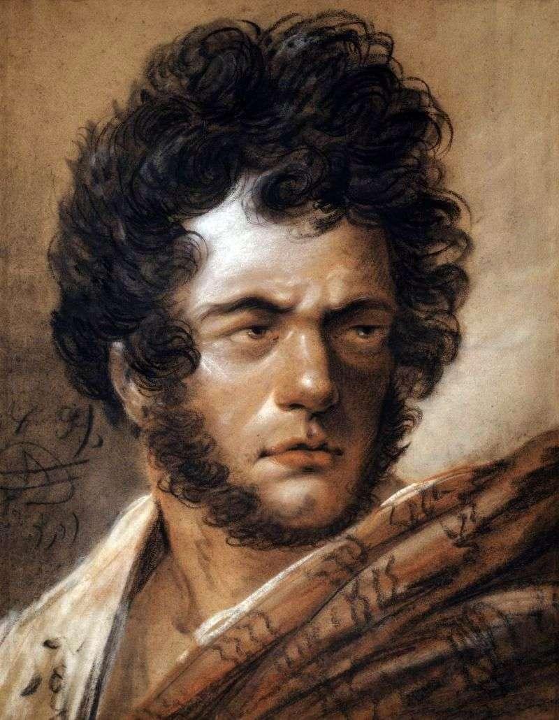 Autoportret w czerwonym płaszczu   Alexander Orlovsky