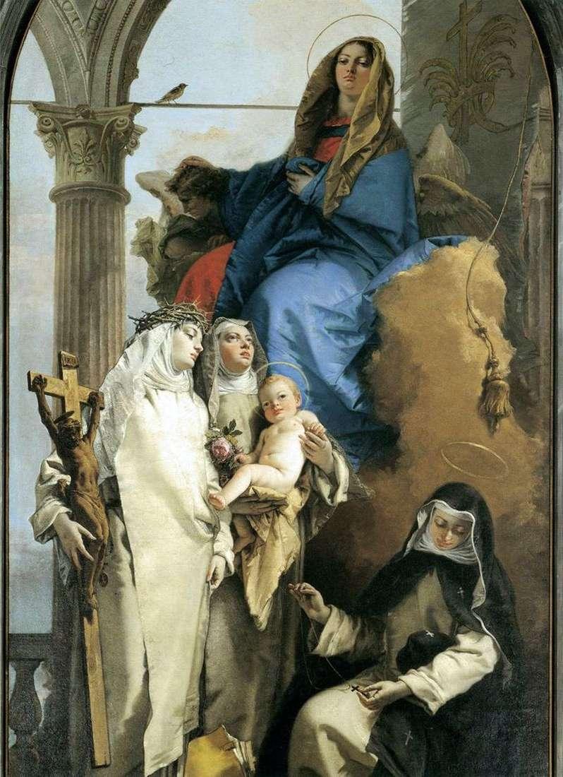 Wygląd Dziewicy przez dominikańskich świętych   Giovanni Battista Tiepolo