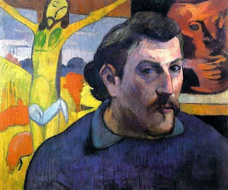Autoportret z żółtym Chrystusem   Paul Gauguin