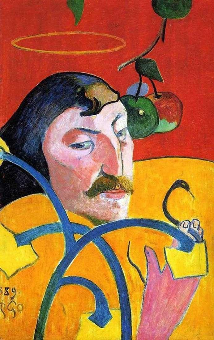 Autoportret z aureolą (groteską)   Paul Gauguin