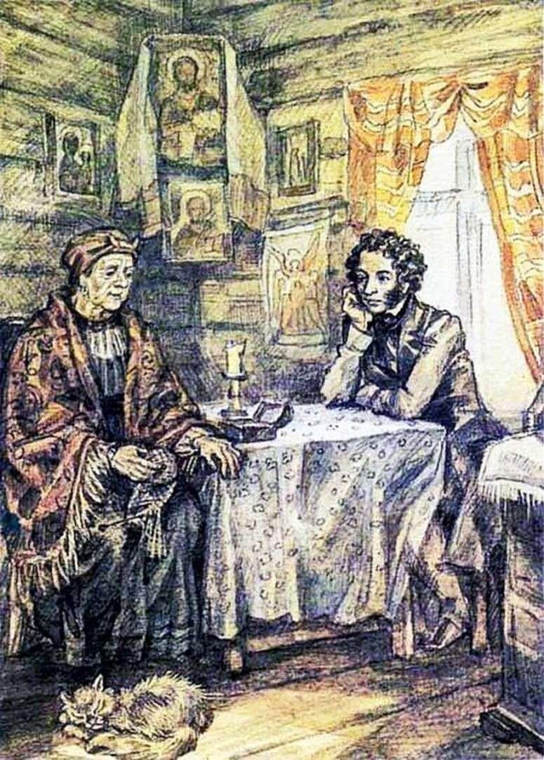 Puszkin i Arina Rodionowna   Jurij Iwanow
