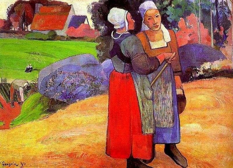 Bretońskie chłopki   Paul Gauguin