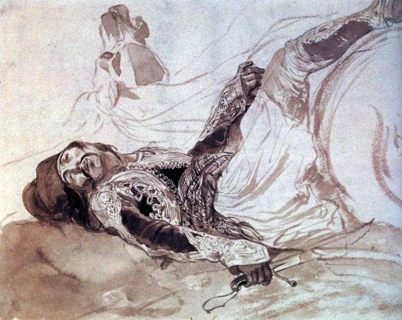 Ranny Grek poległ z konia   Karl Bryullov