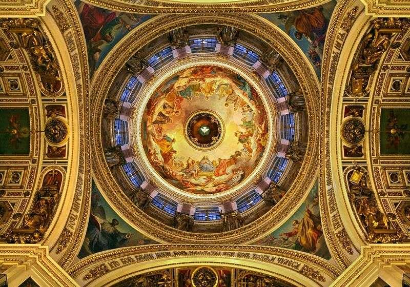 Malowidła na suficie katedry św. Izaaka   Karl Bryullov