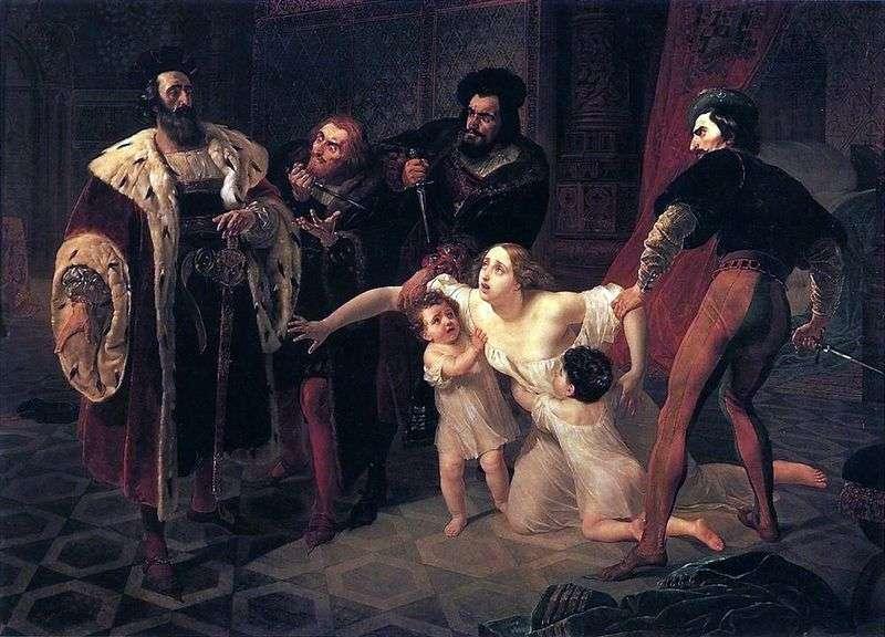 Śmierć Inessy de Castro   Karl Brullov