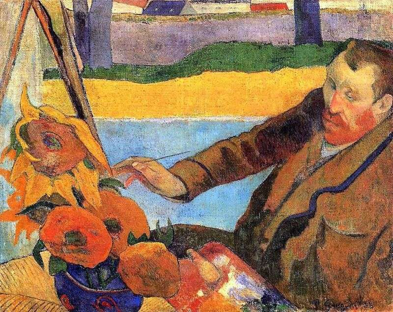 Van Gogh Maluje Sloneczniki Portret Vincenta Van Gogha Paul Gauguin