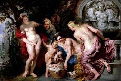 Detekcja dziecka Erikhtonia   Peter Rubens