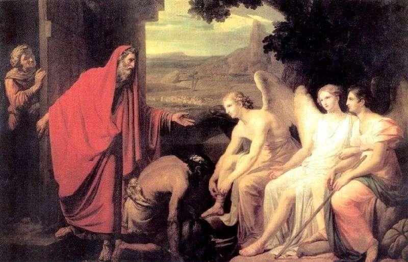 Pojawienie się trzech aniołów dla Abrahama przez dąb Mambrea   Karl Brullov