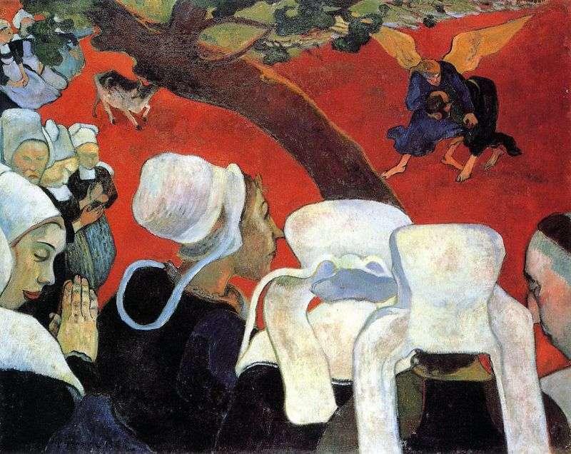 Wizja po kazaniu (Jakub zmaga się z aniołem)   Paul Gauguin