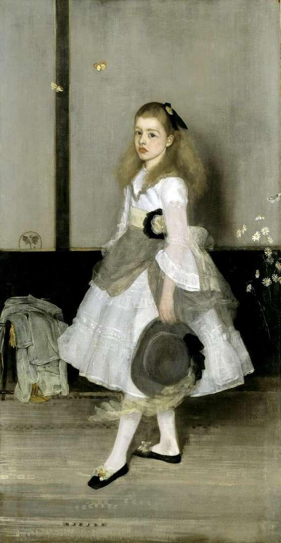 Harmonia w kolorze szarym i zielonym: Portret Miss Cecily Alexander   James Whistler