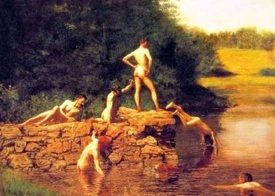 Obszar pływania (staw)   Thomas Eakins