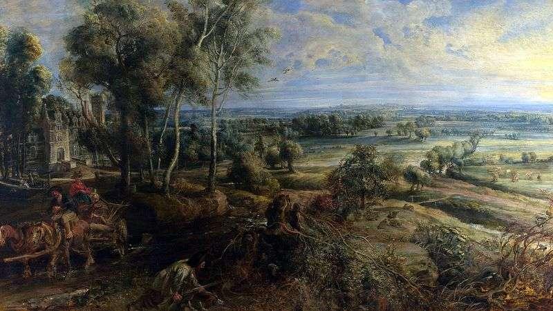Jesienny krajobraz z widokiem Hesh Steen   Peter Rubens