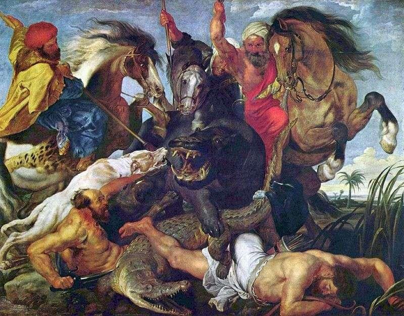Hipopotam i krokodyl   Peter Rubens