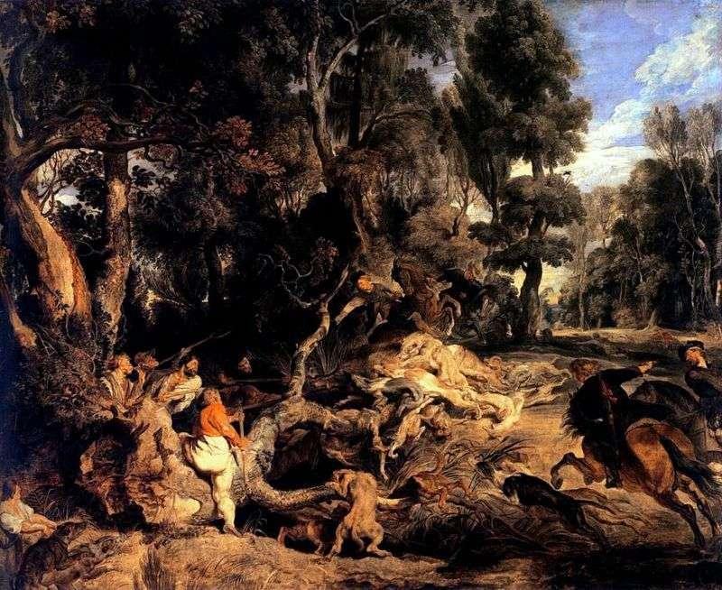 Polowanie na dzika   Peter Rubens