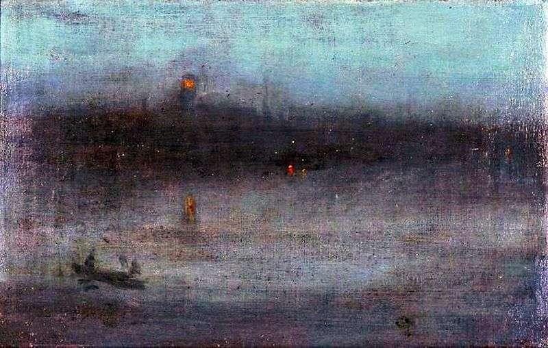 Nocturne in Blue and Gold: Old Battersea Bridge   James Whistler