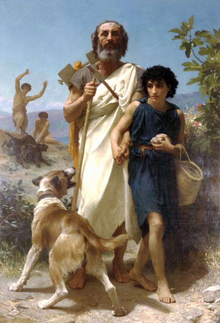 Homer i jego przewodnik   Adolph Bouguero