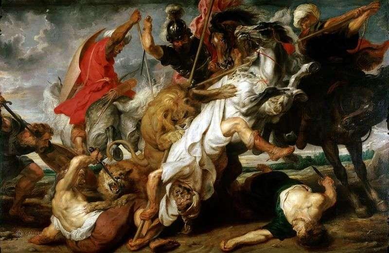 Polowanie na lwy   Peter Rubens