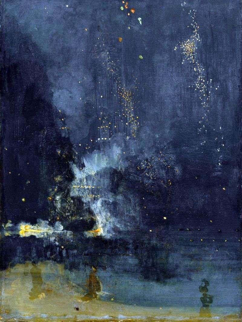 Nokturn w czerni i złocie. Rakieta   James Whistler
