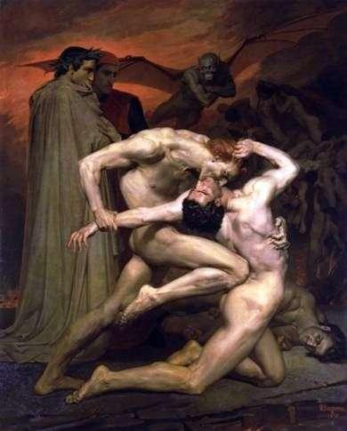 Dante i Virgil w piekle   Adolph Bouguero